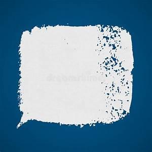 Tache De Couleur Peinture Fond Blanc : tache grunge de peinture de vecteur blanc sur le fond bleu illustration de vecteur ~ Melissatoandfro.com Idées de Décoration