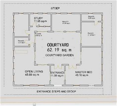 interior courtyard house plans small house plans courtyard ranch houses house plans