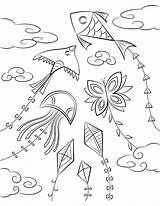 Kite Colouring Coloring Printable Clipart Pages Drawing Transparent Children Museprintables Webstockreview Print sketch template