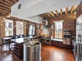 loft kitchen ideas cozy new york city loft enthralls with an eclectic