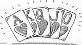 Poker Flush Drawing Royal Dessin Clip Casino Clipart Gioco Cartes Carte Desenho Reale Winning Desenhos Spielkarten Grafiken Baralho Sketch Disegno sketch template