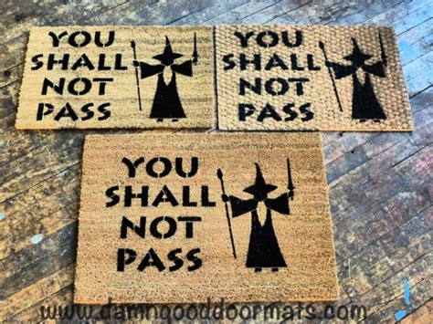 you shall not pass doormat awesomely geeky doormats