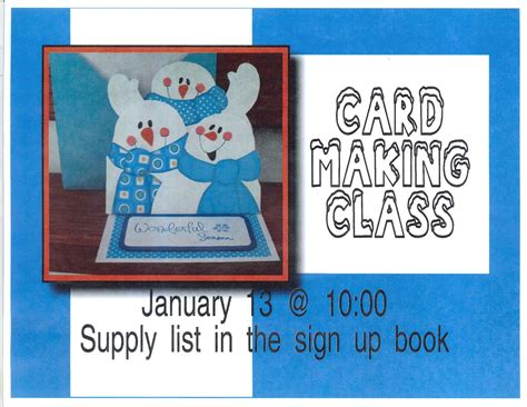 harman senior recreation center january card making class