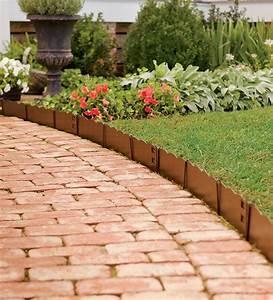 Edging, Landscape, Patio, Flower, Bed, Garden, Border, Ideas, For, Prepossessing, Easy, Inexpensive, Borders
