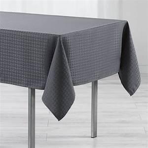 Nappe De Table Rectangulaire : nappe rectangulaire l250 cm jacquard maillon anthracite nappe de table eminza ~ Teatrodelosmanantiales.com Idées de Décoration