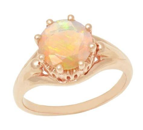 vintage style regal crown opal engagement ring   karat