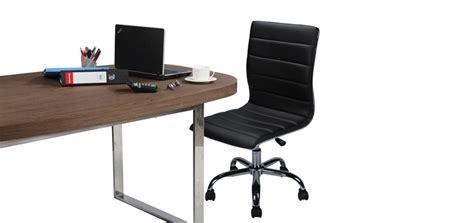 chaise de bureau sans accoudoir chaise bureau sans accoudoir fauteuil bureau ergonomique