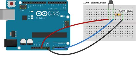arduino temperature sensor thermistor tutorial