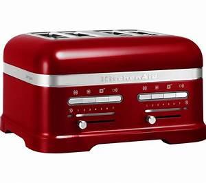 Kitchen Aid Toaster : buy kitchenaid artisan 5kmt4205bca 4 slice toaster red free delivery currys ~ Yasmunasinghe.com Haus und Dekorationen