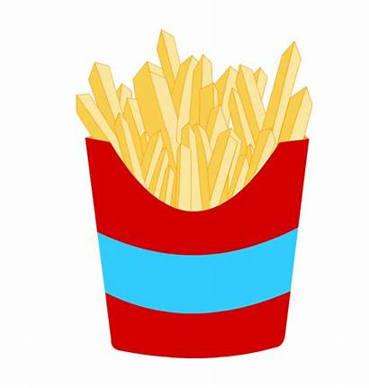 Chips Chip Clipart Fries French Clip Drawing