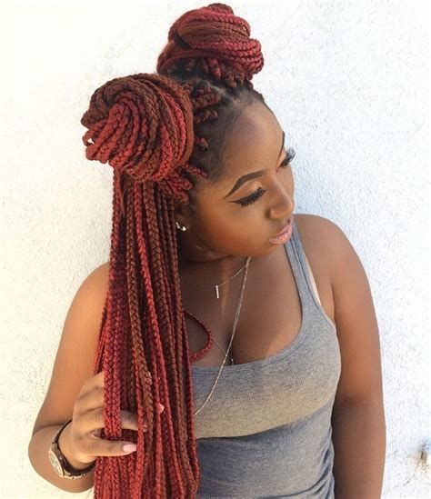 top  box braids updo hairstyles