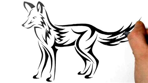 Draw A Real Time Drawing How To Draw A Fox Tribal Design Real Time