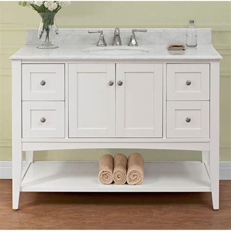 bathroom vanity with shelf fairmont designs shaker americana 48 quot vanity open shelf
