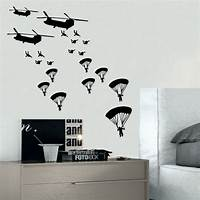 best army bedroom wall ARMY TROOPS wall sticker solider stickers vinyl home boys ...