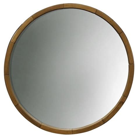 Wood Wall Decor Target by Decorative Wall Mirror Wood Barrel Frame Threshold