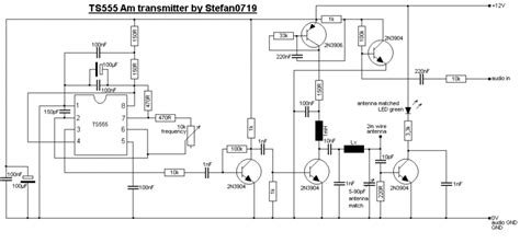 sirkitelektronika rangkaian pemancar am mini dengan ic 555