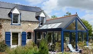 extension de maison toiture double pente verandaline With maison avec jardin interieur 5 extension de maison toiture double pente verandaline