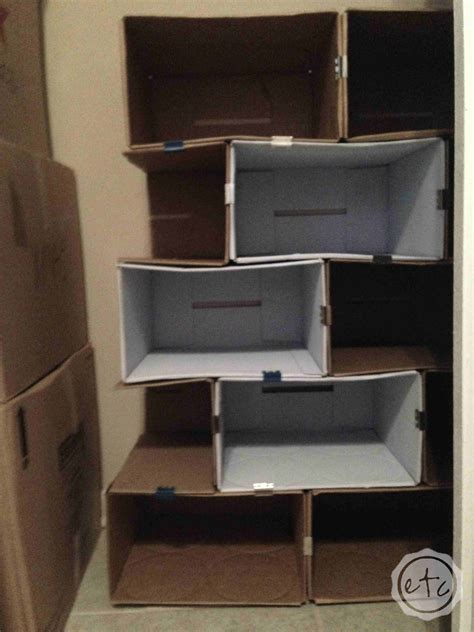 Diy Cardboard Bookcase  Happily Ever After, Etc