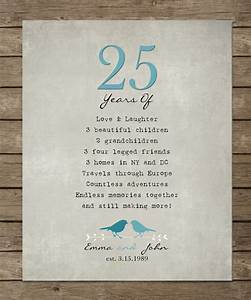25th silver wedding anniversary gift for parents anniversary for 25th wedding anniversary gifts for husband