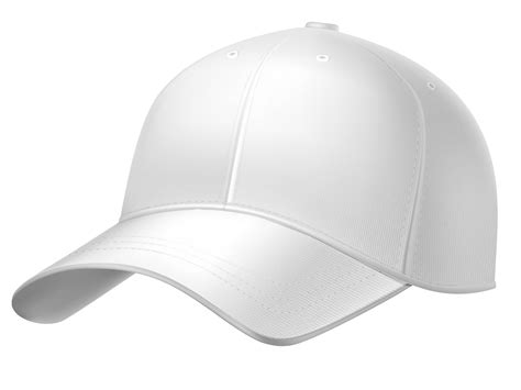 White Plain Baseball Cap Png Clipart