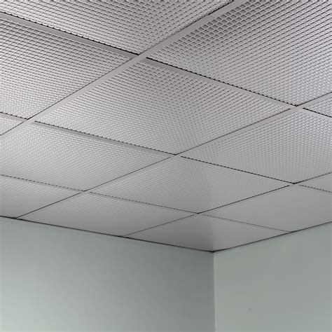 Suspended Ceiling Tiles 2x2 by Fasade Ceiling Tile 2x2 Suspended Square In Brushed Aluminum
