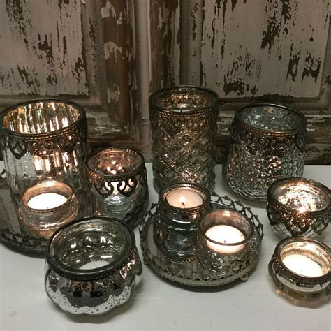chic antique style glass metal vintage tea light candle holder french country ebay