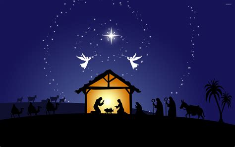 Nativity Scene Wallpaper  Holiday Wallpapers #50278