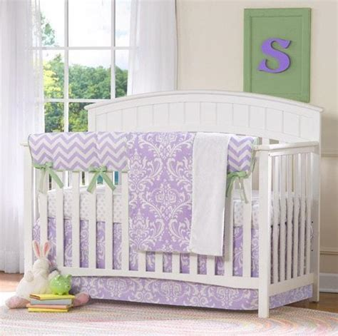 purple chevron crib bedding bumperless sets nautical baby bedding monogrammed baby