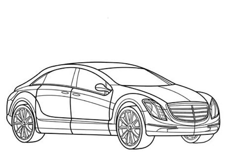 mercedes  coloring page  printable coloring pages