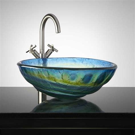 vessel sink bathroom ideas 20 glass sink design ideas for bathroom inspirationseek