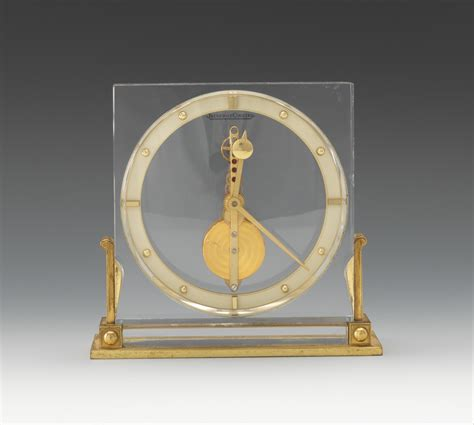 jaeger lecoultre table clock a jaeger lecoultre mystery desk clock 10 20 11 sold 437