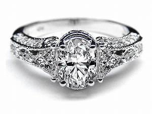 Antique Style Engagement Diamond Rings Wedding Promise