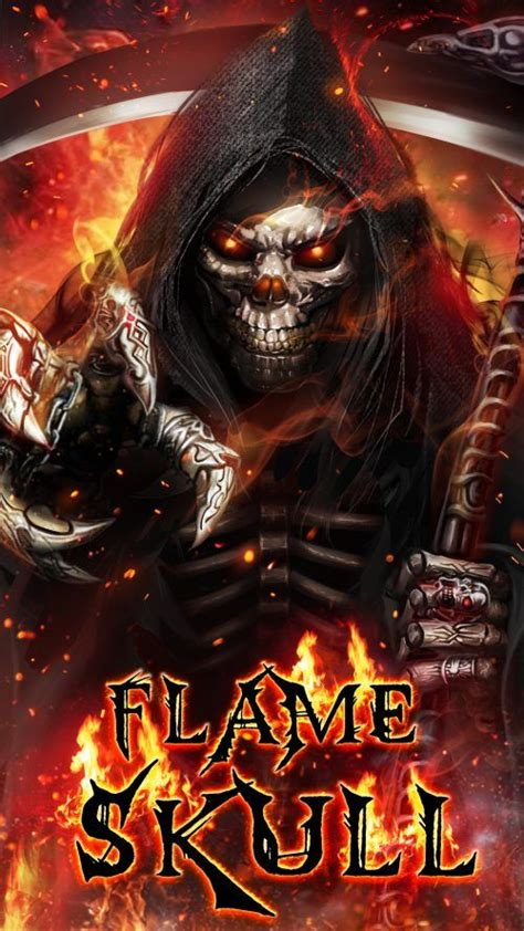 badass wallpapers  android    grim reaper flame