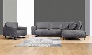 Stühle Grau Leder : primavera polster wohnlandschaft mit sessel monolithos leder grau 300023 polsterm bel ~ Watch28wear.com Haus und Dekorationen