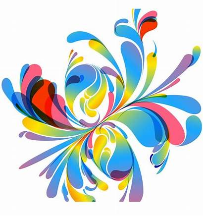 Abstract Colorful Vector Floral Designs Illustration Graphic