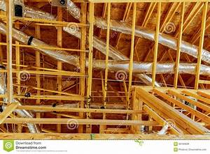 The Frame Building Or House With Basic Electrical Wiring