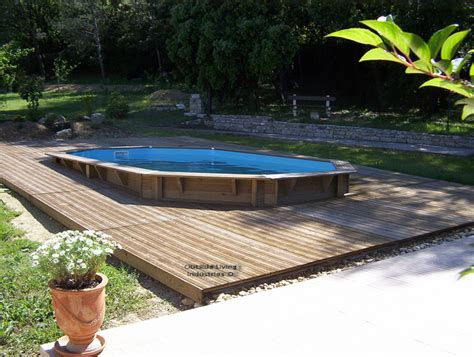 piscine bois semi enterr 233 e 6x3