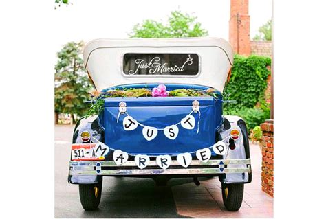 best just married wedding car decorations heavy com