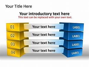 Powerpoint Slide - Block Diagram - 3d - 4 Blocks