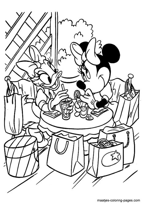 minnie mouse coloring page
