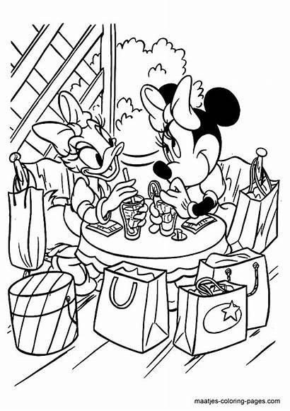 Minnie Coloring Mouse Pages Daisy Bowtique Duck