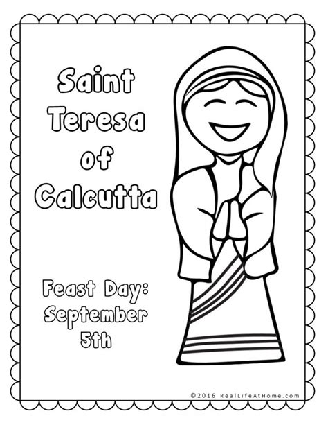 mother teresa coloring pages  coloring  kids