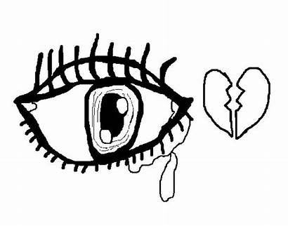 Coloring Eyes Crying Pages Sad Anime Scary