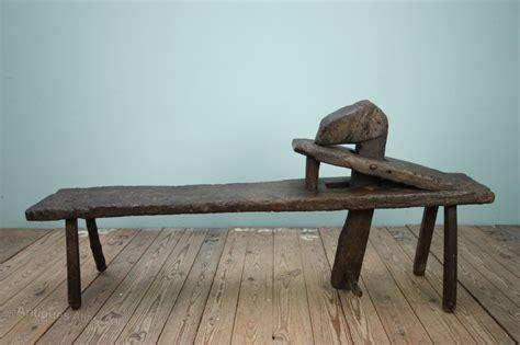 century antique oak shave horse work bench