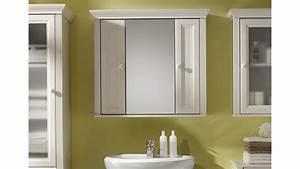 Spiegelschrank JASMIN Badezimmer Schrank Spiegel Lrche Wei