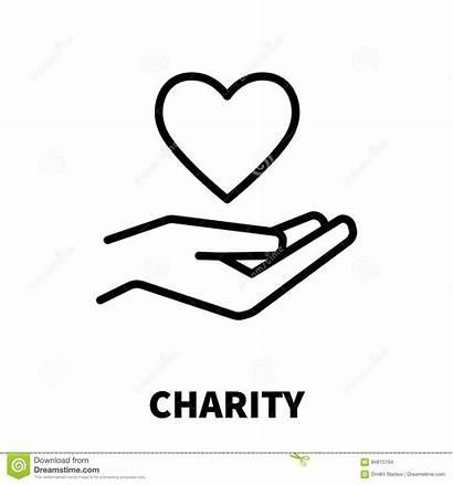 Charity Icon Lijnstijl Embleem Moderne Line Insurance