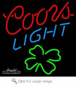 Coors Light Shamrock Neon Sign only $299 99 Signs C