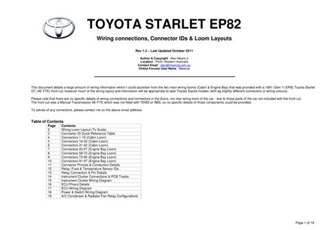 toyota starlet fuse box diagram 31 wiring diagram images