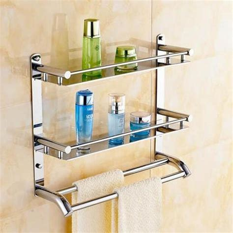 wall mounted stainless steel bathroom corner shelf  rs