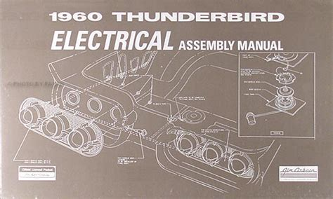1960 Thunderbird Wiring Schematic by 1960 Ford Thunderbird Electrical Assembly Manual Wiring